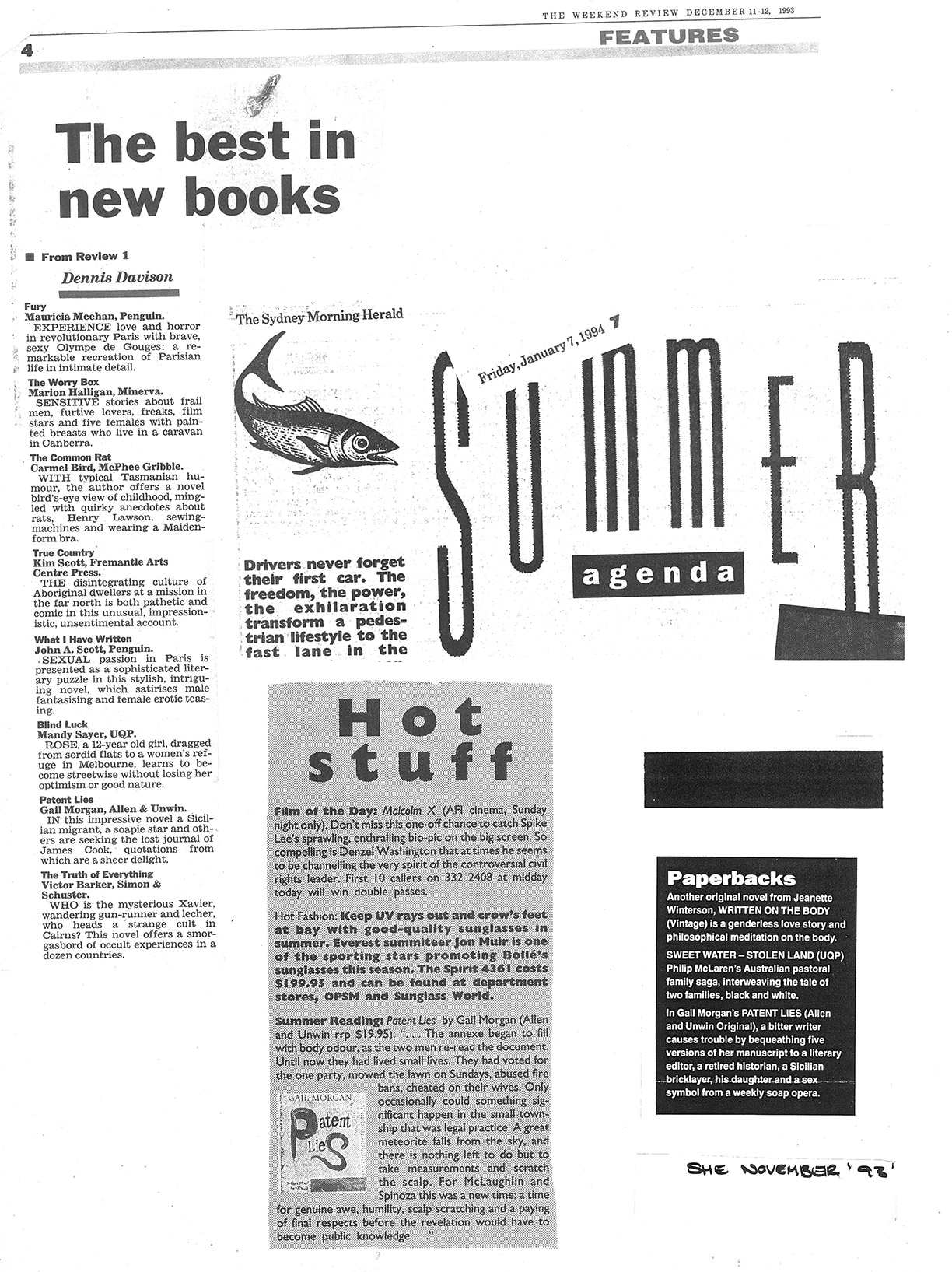 The Weekend Review – The Best in New Books '93