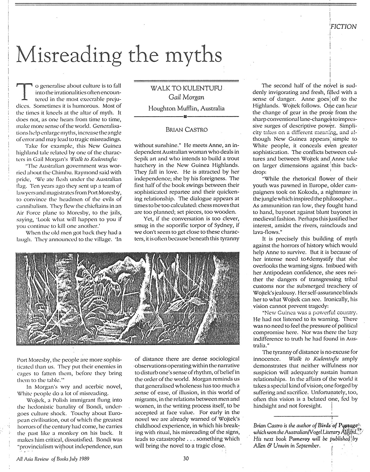 Misreading the Myths – Walk to Kulentufu Review by Brian Castro