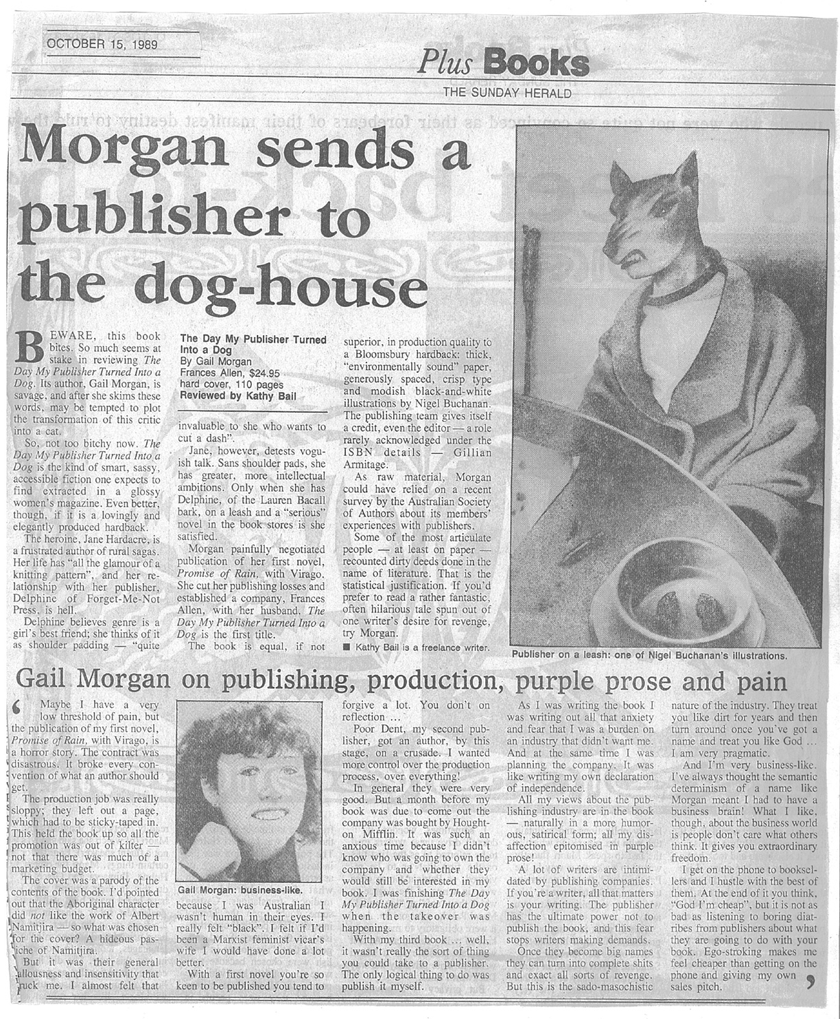 Morgan Sends a publisher to the dog house