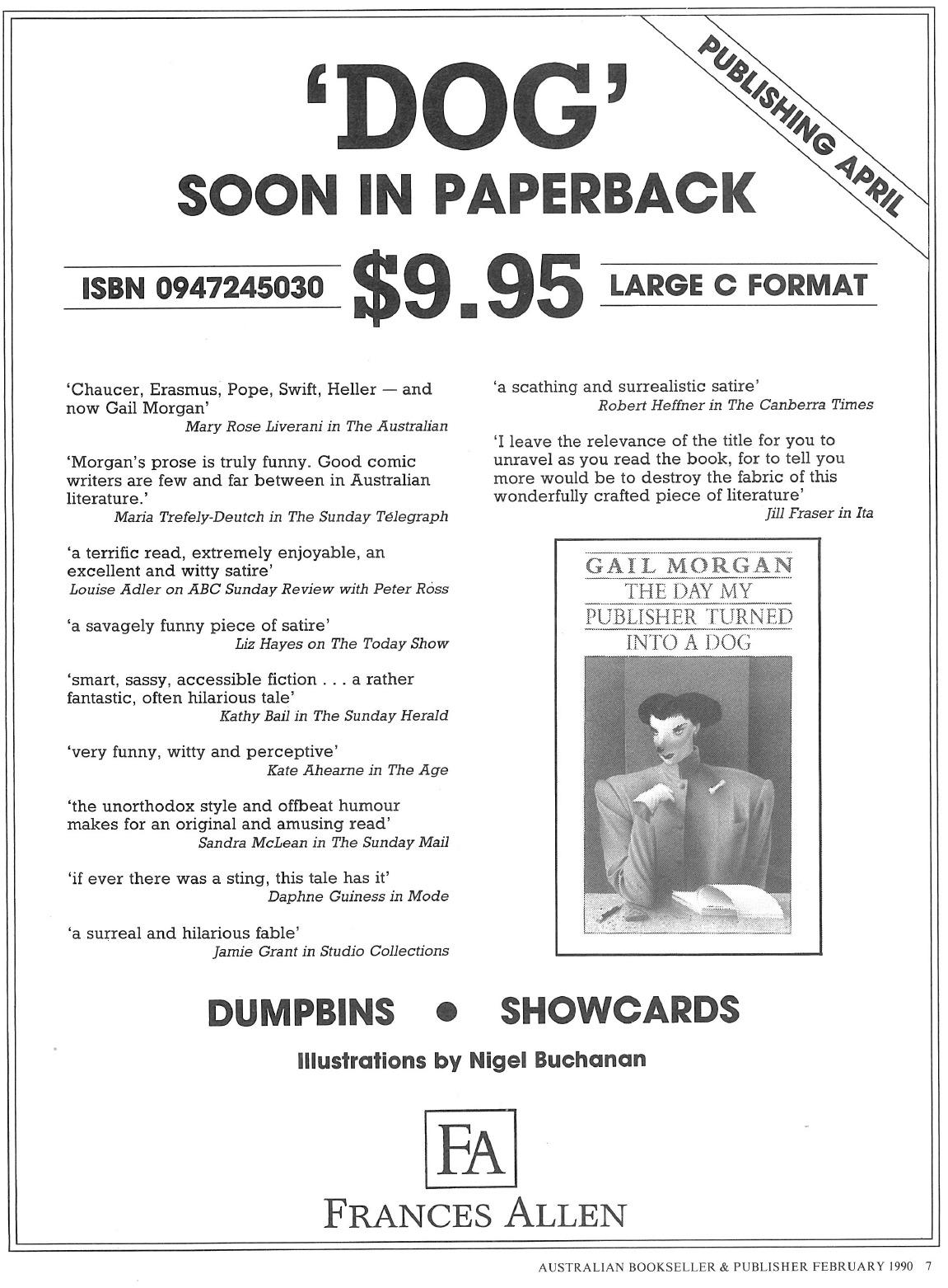 'Dog' soon in paperback